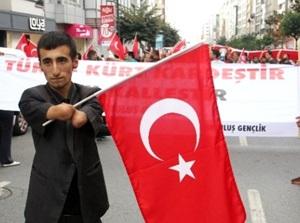 Kurtuluş'ta Terör Protestosu