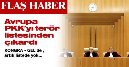 AB PKK'YI TERÖR LİSTESİNDEN ÇIKARDI