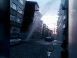 Şişli'de su borusu patladı
