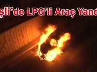 Şişli'de Seyir Halindeki LPG'li Araç Yanmaya Başladı...