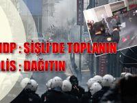 Şişli'de HDP'li Protestoculara Polis Müdahalesi...