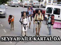 Guinness rekorlar kitabına girmek için, yürüyerek dünya turuna çıkan aile, Kartal da
