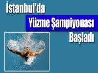 İstanbul'da Yüzme Şampiyonası başladı
