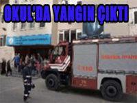 Şişli'de ilkokulda yangın
