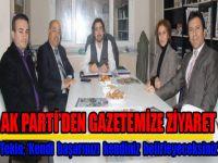 Ak Parti Şişli'nin yeni yönetiminden gazetemize ziyaret