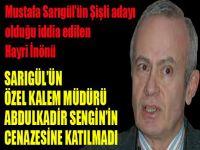 Sarıgül'ün adayı iddia edilen İnönü, Sezgin'in cenazesine katılmadı