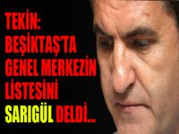 Tekin: 'Beşiktaş'ta genel merkezin listesini Sarıgül delmişti'