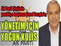 Ak Parti yeni ilçe başkanı Şeref Sezgin'e yönetim için kulis