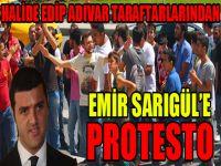 Halide Edip taraftarlarından Emir Sarıgül'e protesto