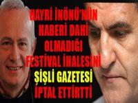 İnönü'nün haberi olmadığı Sarıgül'ün ihalesini Şişli Gazetesi iptal ettirtti