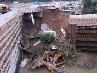 Çöken Yurt İnşaatının Çevresindeki Binalar da Çatladı