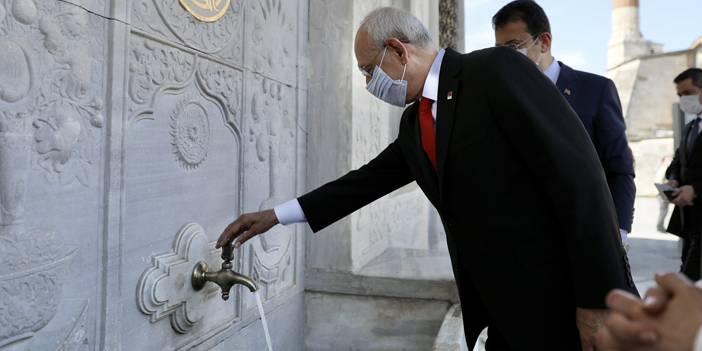 Kılıçdaroğlu, Kaftancıoğlu ve İmamoğlu 3'ncü Ahmet Çeşmesi'ni ziyaret etti